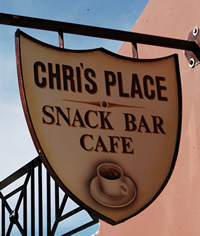 Chris' Place Snack Bar Cafe in Pentati